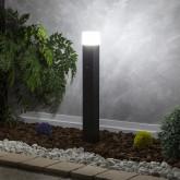 Baliza Columna Negro para Lámpara LED E27 con Detector