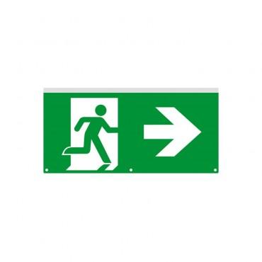 Cartel de Emergencia con Banderola LED