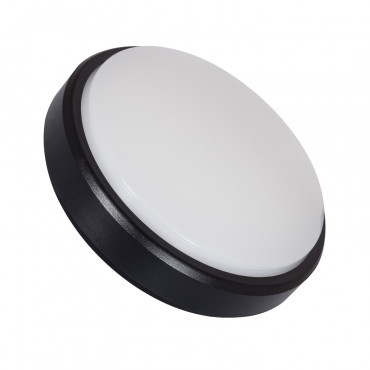 Plafón LED Circular Superficie 12W Negro IP54