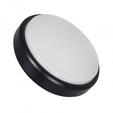 Plafón LED Circular Superficie 12W Negro IP54