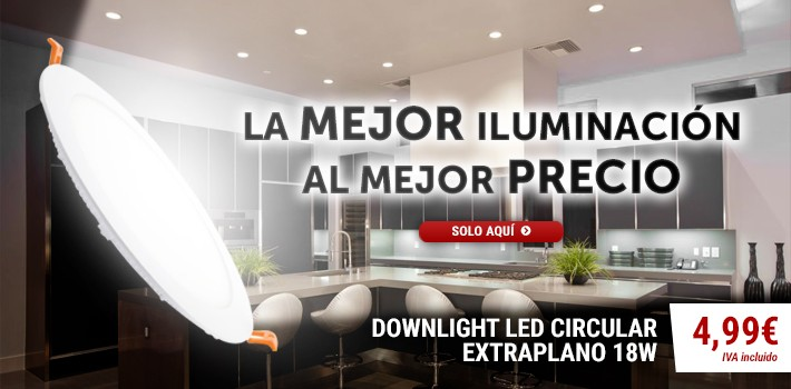 Downlight LED Circular Extraplano 18W